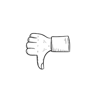 Thumb up down hand illustration