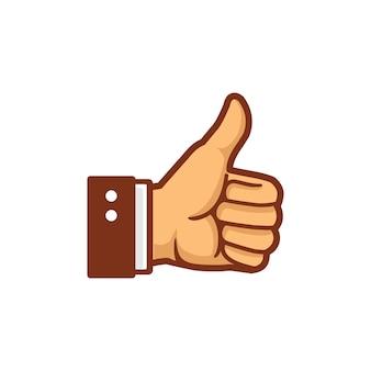 Thumb up hand vector