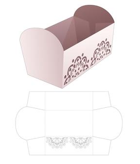 Tigela de lanche com molde de mandala recortado