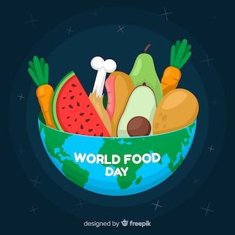 Tigela natural de legumes e frutas