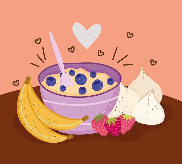 Tigela saudável com cereal