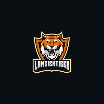 Tiger angry e sport logo gaming.