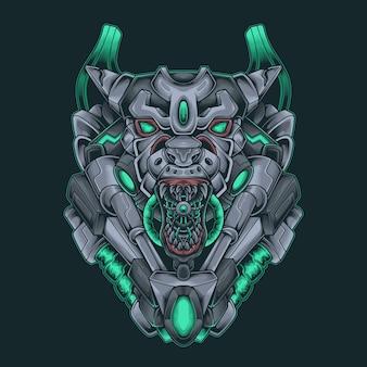 Tiger monster cyberpunk