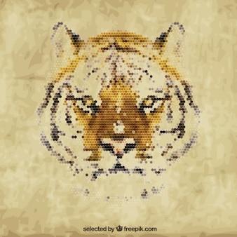 Tiger poligonal