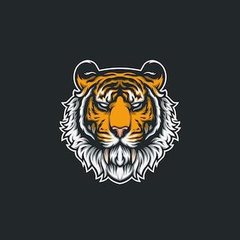 Tigre cabeça ilustração design