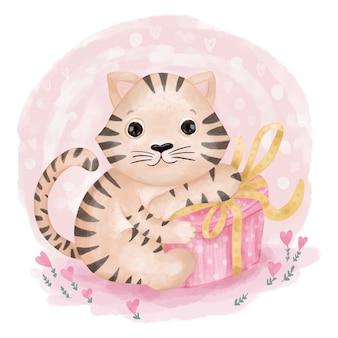Tigre com caixa