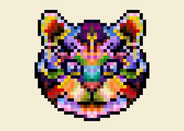 Tigre de gato bonito colorido isolado.