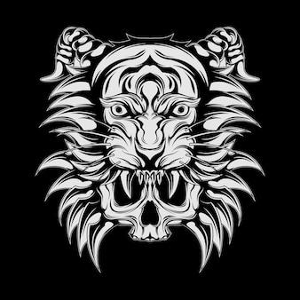 Tigre e crânio