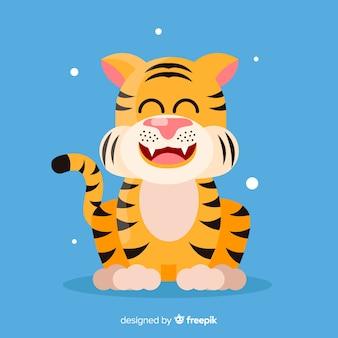 Tigre feliz