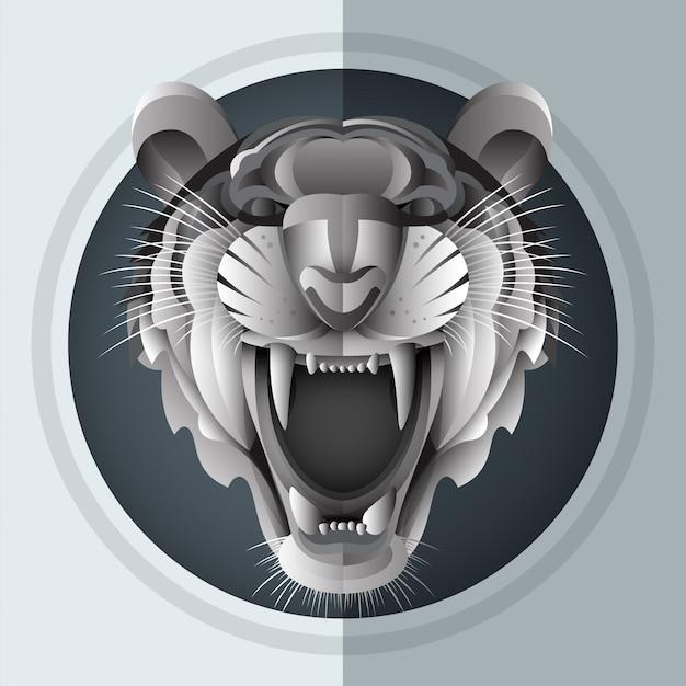 Tigre siberiano rosnado