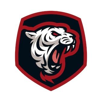 Tigre vector ícone logotipo mascote ilustração