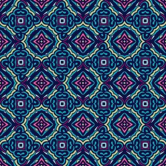 Tiled étnica flor colorida padrão de azulejos para a tela. padrão sem emenda vintage em mosaico geométrico abstrato