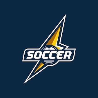 Time de esports de logotipo de trovão de futebol