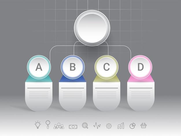 Timeline infográfico apresentação com início ao fim do negócio