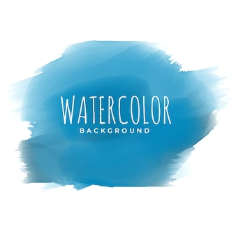 Tinta azul aquarela pincelada fundo