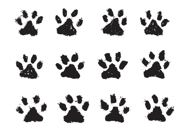 Tinta cães pata gatos pata estilo grunge