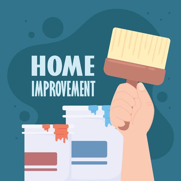 Tinta colorida para reforma da casa