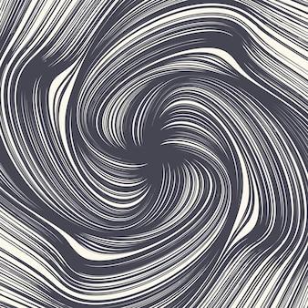 Tinta decorativa desenhada à mão twirl lines espiral abstrata textura