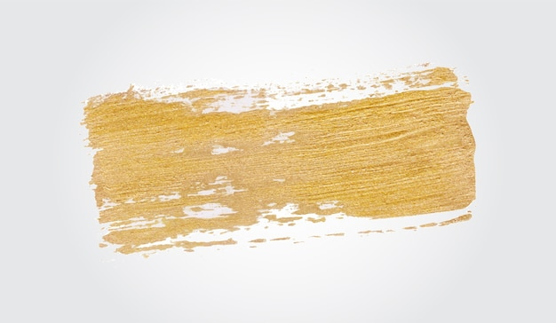 Tinta dourada com pincelada artesanal