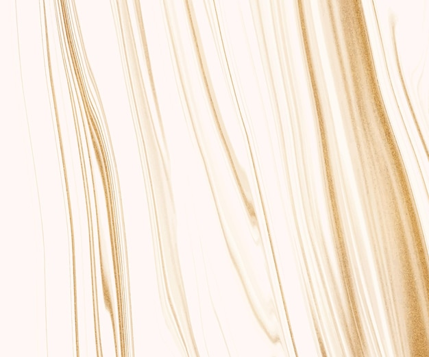 Tinta líquida branca com textura de glitter dourados.