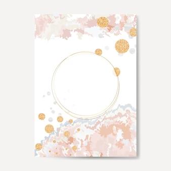 Tinta pastel derramar vetor de cartão