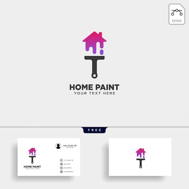 Tinta pincel colorido logotipo modelo vector elemento ícone