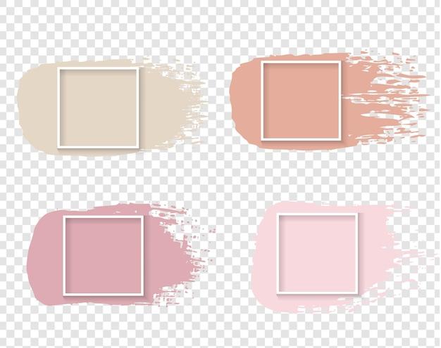 Tinta rosa com conceito de moldura branca