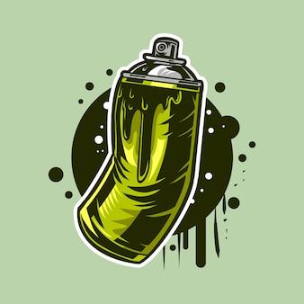 Tinta spray aerossol pode ilustração para desenho de grafite de rua