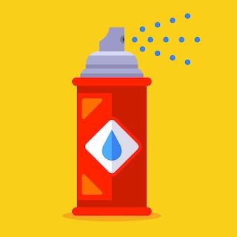 Tinta spray de ferro para grafite. ilustração plana