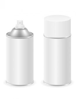 Tinta spray em um recipiente de lata de metal