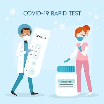 Tipo de conceito de teste de coronavírus