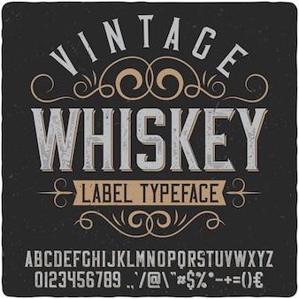 Tipo de etiqueta de uísque vintage