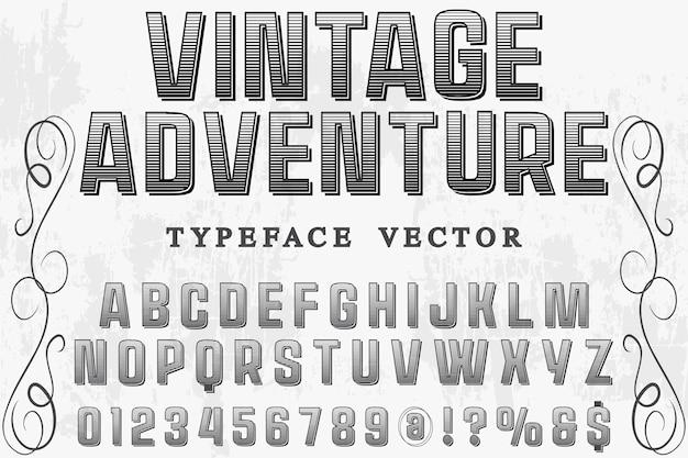 Tipo de fonte de aventura vintage