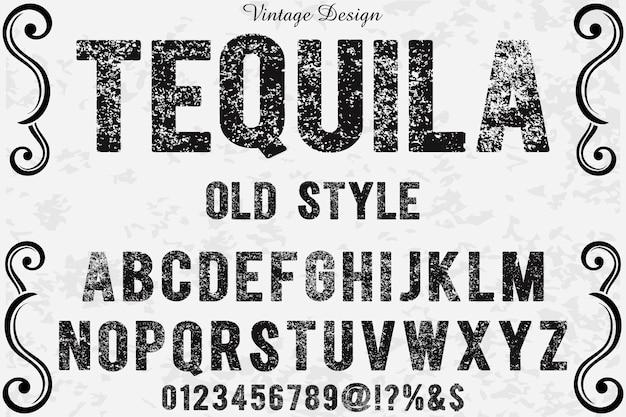 Tipo de fonte de tequila