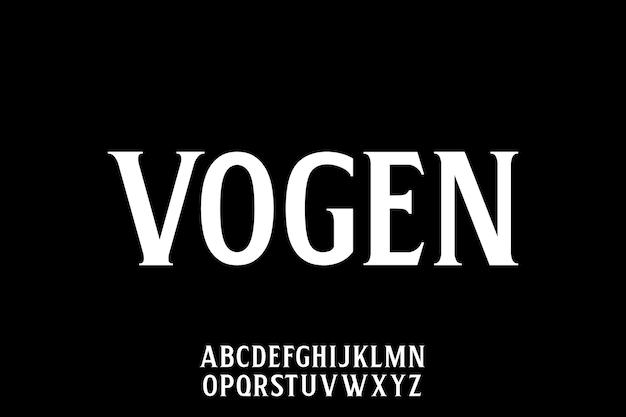 Tipo de fonte elegante de luxo e conjunto de alfabeto glamour