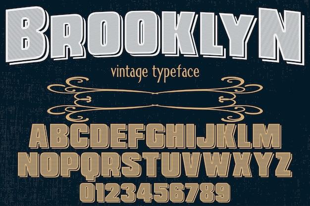 Tipo de fonte vintage design brooklyn