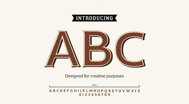 Tipo de letra abc. para rótulos e projetos de tipos diferentes
