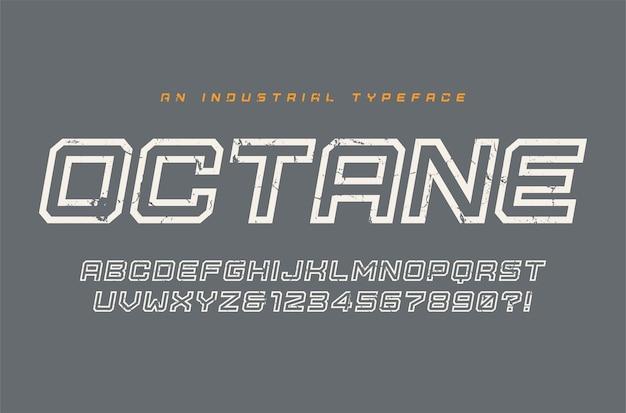 Tipo de letra, fonte, alfabeto, tipografia de exibição octano amostras globais
