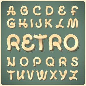 Tipo de letra retrô vector
