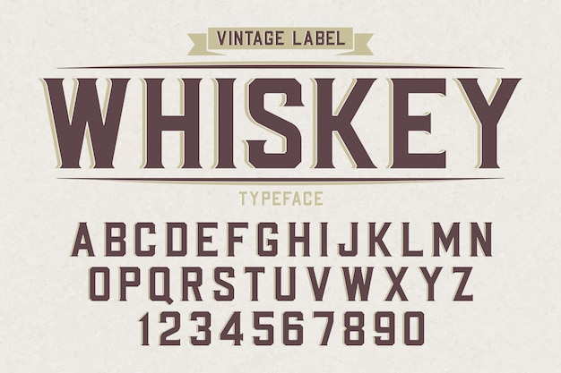 Tipo de letra retrô vintage decorativo vector, fonte, letras do alfabeto