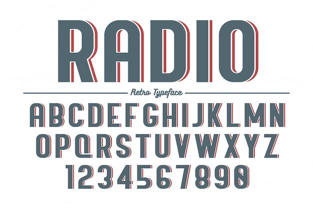 Tipo de letra retrô vintage decorativo vector, fonte, tipo de letra.