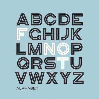 Tipo de letra sans serif pesado. alfabeto de vetor, letras, fonte