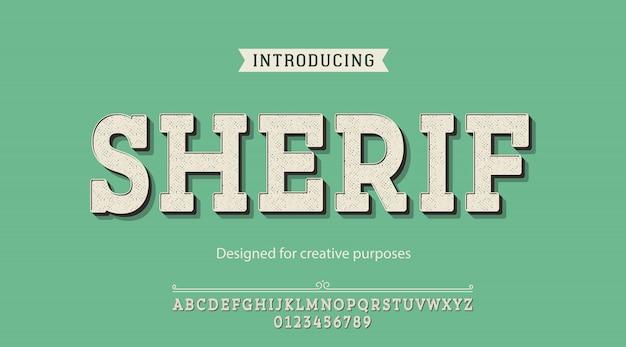 Tipo de letra sherif. para fins criativos