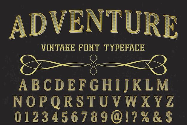 Tipo de letra vintage com aventura de palavra