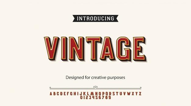 Tipo de letra vintage. para rótulos e projetos de tipo diferente