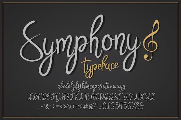 Tipo de letra vintage sinfonia