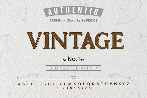 Tipo de letra vintage