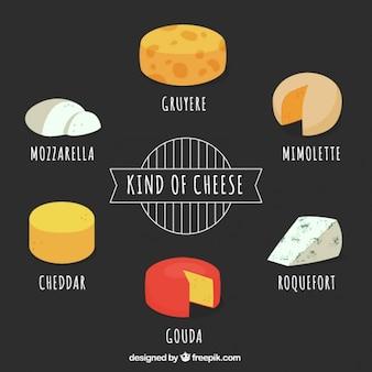 Tipo de pacote de queijo