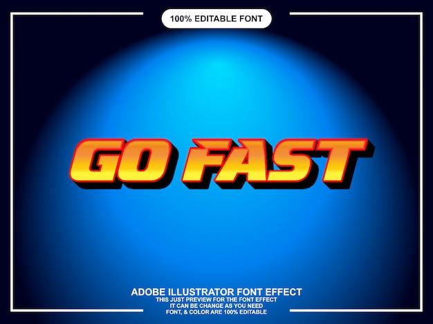 Tipo editável fácil do estilo gráfico rápido e corajoso