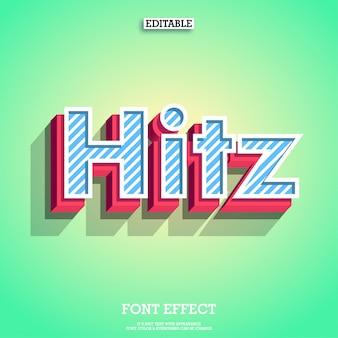 Tipo moderno do logotipo do hitz 3d para o projeto digital e da cópia